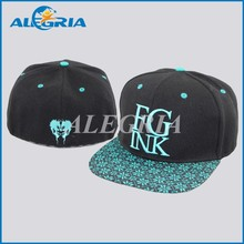 Adjustable Cheap Snapback Cap 6 Panel Hat /Flat Brim Blank Custom Floral Print Wholesale 6 Panel Cap