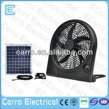 Mini ventilador de escape solar 10 pulgadas de 12C DC, equeños extractores en baño, fábrica de Foshan