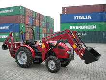 mini tractor with front end loader and backhoe
