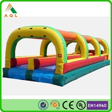 Cheap sale commercial double lane inflatable water slip slide