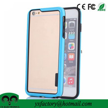 mobile phone accessory bumper frame tough dual layer pc tpu protective case for phone case
