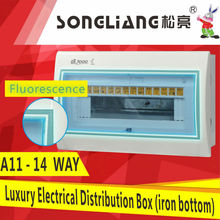 11-14WAY mcb light luminous electrical distribution box