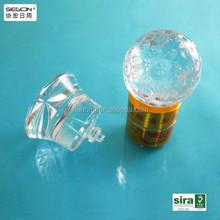 Transparent clear plastic bottle cover