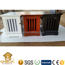 Indoor Decorative dog house made of wood with sliding door