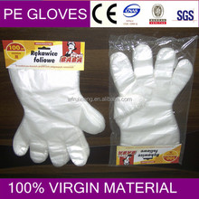 disposable pe gloves hang card for food
