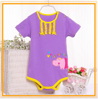 2015 latest style factory diect Wholesale baby bodysuit organic cotton
