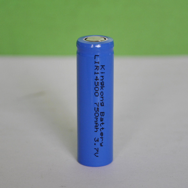 Aa 14500 lithium battery cylinder rechargeable 750mah for Avantage batterie lithium ion