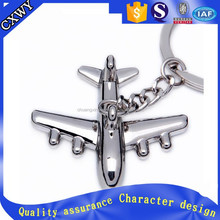 Cute custom metal 3D plane keychains