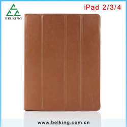 Smart cover leather case for ipad 2 3 4, smart cover for ipad 4/3/2, for ipad tablet case