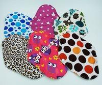2015 Wholesale Mama's Reusable Sanitary Pads Napkin Washable Bamboo Cloth Menstrual Pads Feminine Pads Eco Friendly