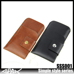 Wholesale hot selling Pu leather Bag with Earphone Plug Port for iphone 6