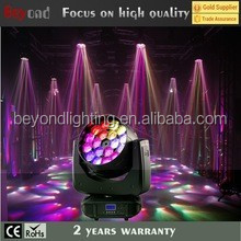 led beam moving head 18*4in1 15w with vortex rotation shining effect led stage lighting