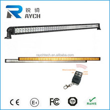 51.5 INCH Double Color 300w LED light bar spot/flood/combo beam Epistar flash with wireless remote control for Offroad Truck 4WD