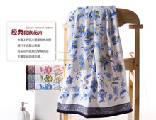 Hot selling printed bath towel 100% cotton towel dress beach