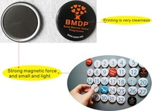 Super strong round self adhesive magnet colored for Furniture fridge magnet