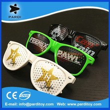 HOT Selling Printing Party promotional pinhole glasses