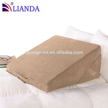 down pillow, fashion reading wedge bed pillow, flocking wedge back pillow