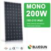 Bluesun high efficiency mono 200w watt solar panel, mono 200w solar module