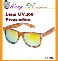 wood-like wholesale sun glasses with FDA and CE certification increading OEM