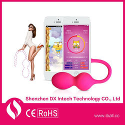Android/Ios Waterproof Seamless Women Dildo WiFi Vibrator Www Xxxl Com Sex Toy Sex Vibe Vagina Kegel Ball