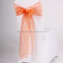 2015 Various Design Party Decoration Orange Flower Chair Sash