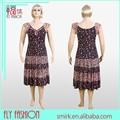 L1518# casuales de alta calidad media de edad de las mujeres de moda vestido, de vestir para mujer de grasa, de verano casual de gran tamaño de grasa vestido de las mujeres