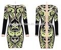 2015 patrón geométrico de jacquard de alta calidad para vestido de dama de honor vestido de la madre