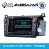 toyota fortuner car gps navigation system support canbus with MFD SWC IPAS OPS Radio RDS Lossess Music android4.4.4 system