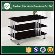 TV furniture black tempered glass tv stand (Three layers) TV-D9
