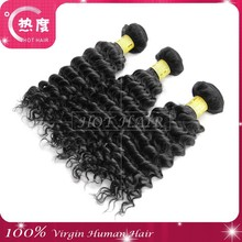 Curl holding after washing brazilian remy virgin human hair weaving