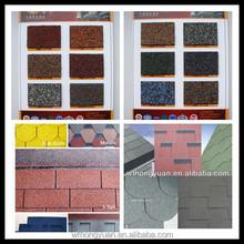 Mosaic type asphalt shingles / asphalt shingle roof tile / asphalt fiberglass shingle