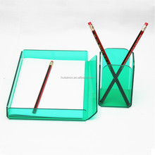 acrylic office stationery set pen holders and paper holders