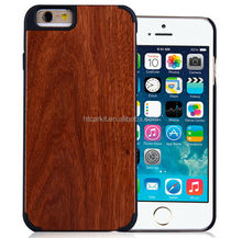 2015 New arrival case for iphone 6 wood cover, For iphone 6 plastic case hybrid wooden cover for iphone 6