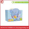 Cute Die Cut Elephant Shape Gift Paper Bag Custom Design