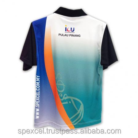 Microfiber sublimation printing t shirt polo custom for Sublimation t shirt printing companies