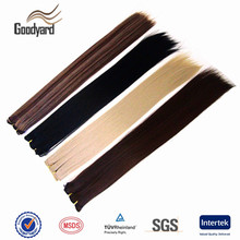 Europe aliexpress wholesale top quality straight tangle free kanekalon synthetic hair weft