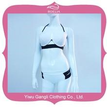 venta caliente sexy 2015 transparente de dos piezas chica bikini traje de baño