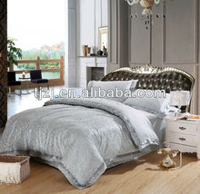 BEAUTIFUL RICH And ELEGANT 7 PC LIGHT BLUE AND TAN BEIGE KING BED COMFORTER SET