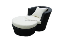 china outdoor furnitures rattan material buy cheap furniture lounge chair with Ottoman