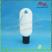 30 ml, 50 ml desinfectante para las manos botella con un gancho, mano vacía de lavado de botellas de plástico