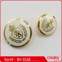 Custom shank type graceful enamel metal crest button