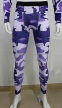 Lively New Sublimated Fitness Trousers sports wear /mens camouflage tights/ basketball stretch leggings