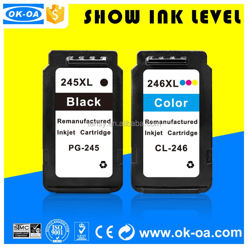 Cartucho de tinta recargable para Canon pg 245 cl 246 para pixma mg 2420/mg2520/ip2820 unidos oficina