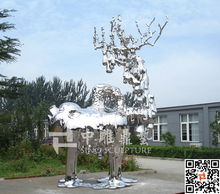stainless steel sculpture , Mirror polished stainless steel contemporary art sculpture ,architectural metal fabrication factory