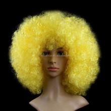 vendita calda a buon mercato giallo ricci afro parrucche per carnevale