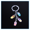 Custom high quality keyring adorable colorful style slipper keychain for car