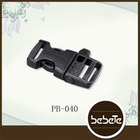 Safety reflective colored plastic side release buckle
