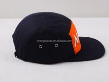 Design your own red black custom 5 panel snapback hats,5 panel baby hat snapback cap