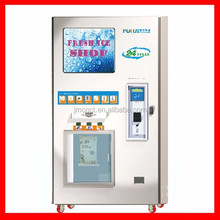 24 hours service Auto bagged ice machine with coin and note and ic card operated