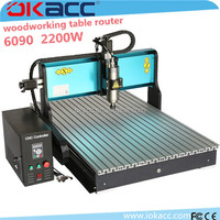 OKACC 2200w spindle motor 6090 3 axis woodworking table router woodworking cnc router for furniture